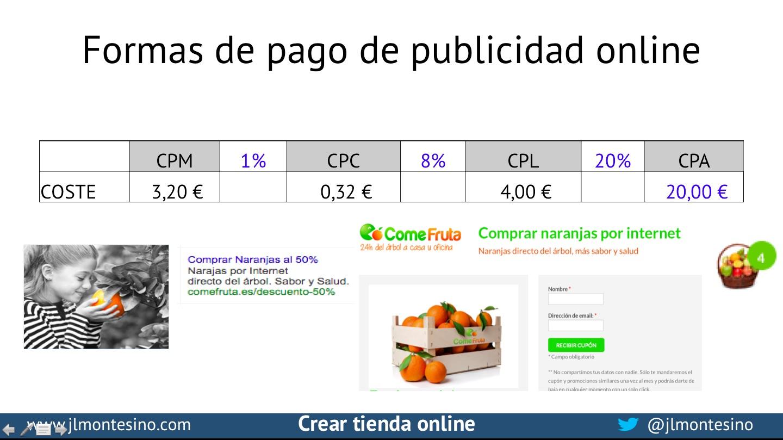 cómo pagar la publicidad online en ecommerce